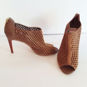 Mark Fisher Peddle Perforated Peep Toe Booties
